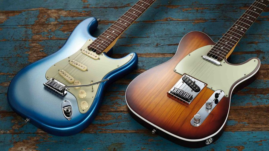 Fender Stratocaster and Telecaster guitares